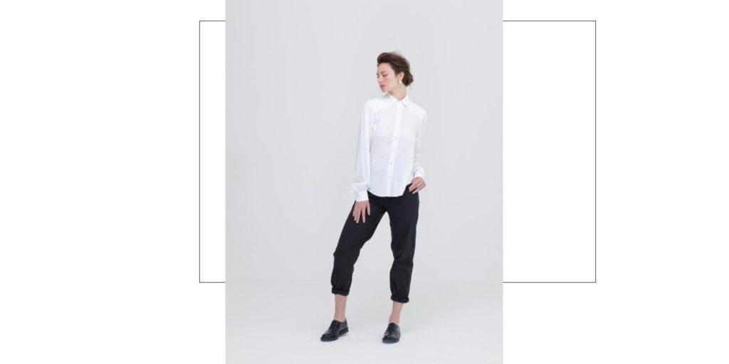 Women's White Bamboo Shirt