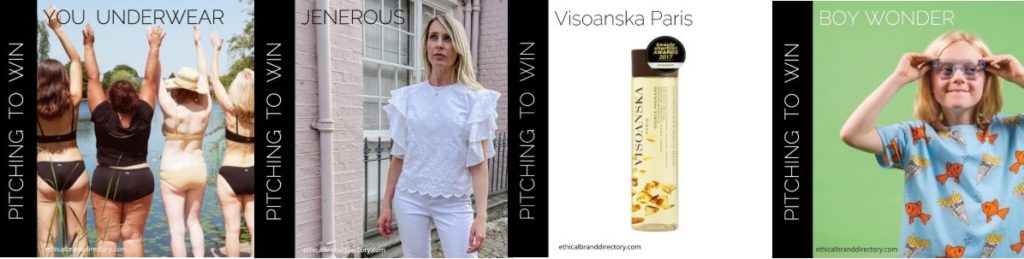Sustainable Fashion and Beauty Brands Pitching to win Ethical Brand Directory membership | YOU Underwear | Jenerous | Boy Wonder | Visoanska