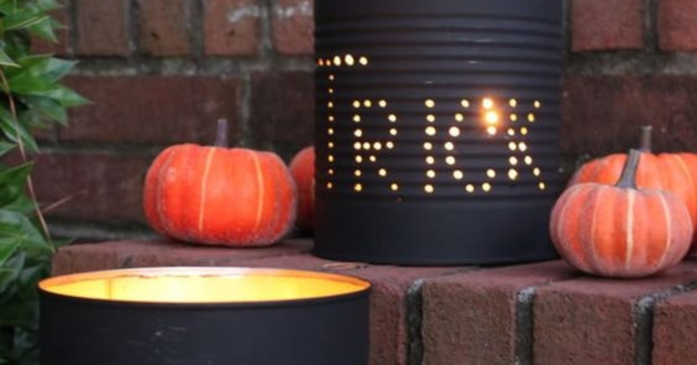 A sustainable Halloween - diy lights