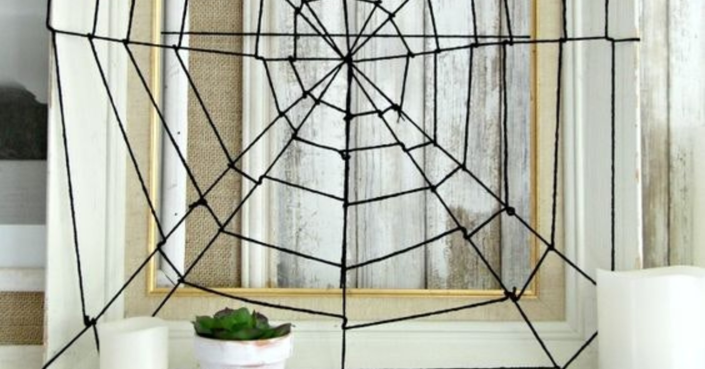 A sustainable Halloween - diy spider web image