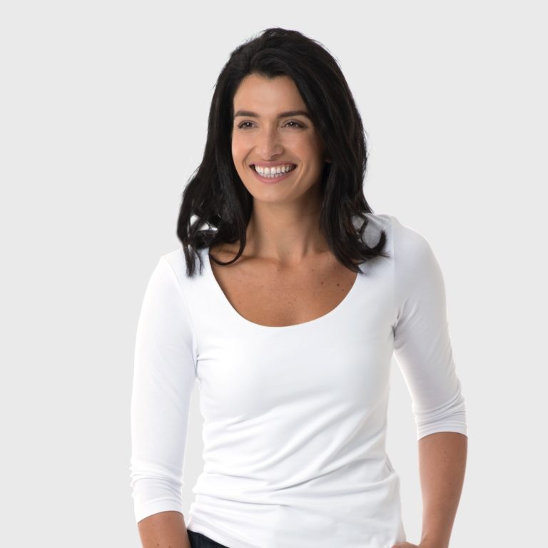 The White T-Shirt Co | White Organic Cotton Womens Long Sleeve T-Shirt | Ethical Brand Directory