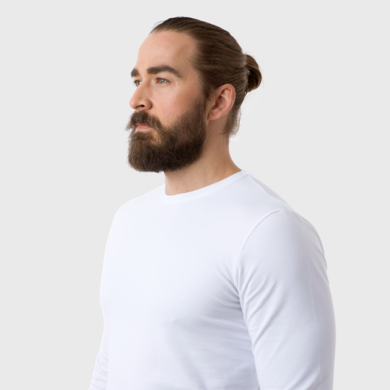 The White T-Shirt Co | White Organic Cotton Mens Long Sleeve T-Shirt | Ethical Brand Directory