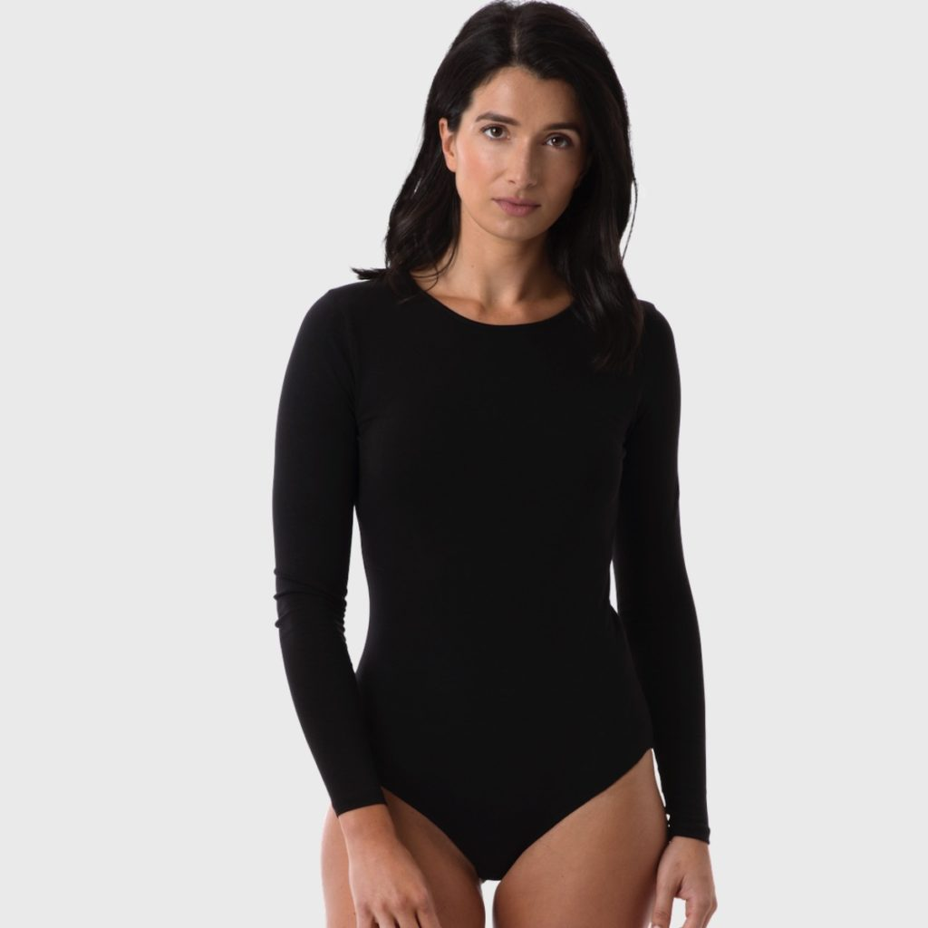 The White T-Shirt Co | Black Organic Cotton Womens Bodysuit | Ethical Brand Directory