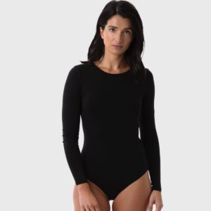 The White T-Shirt Co   Black Organic Cotton Womens Bodysuit   Ethical Brand Directory