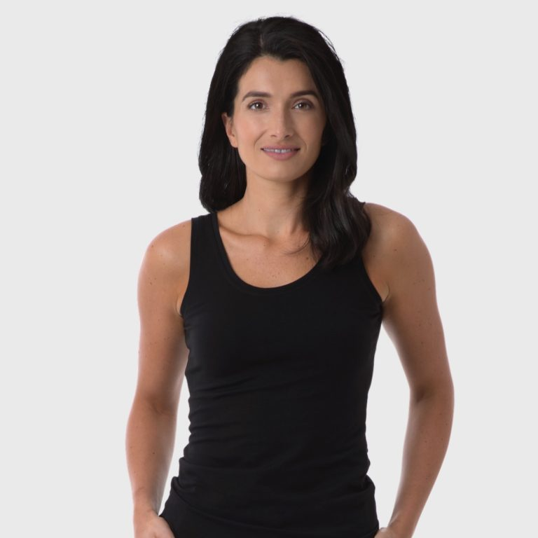 The White T-Shirt Co | Black Organic Cotton Womens Vest Top | Ethical Brand Directory
