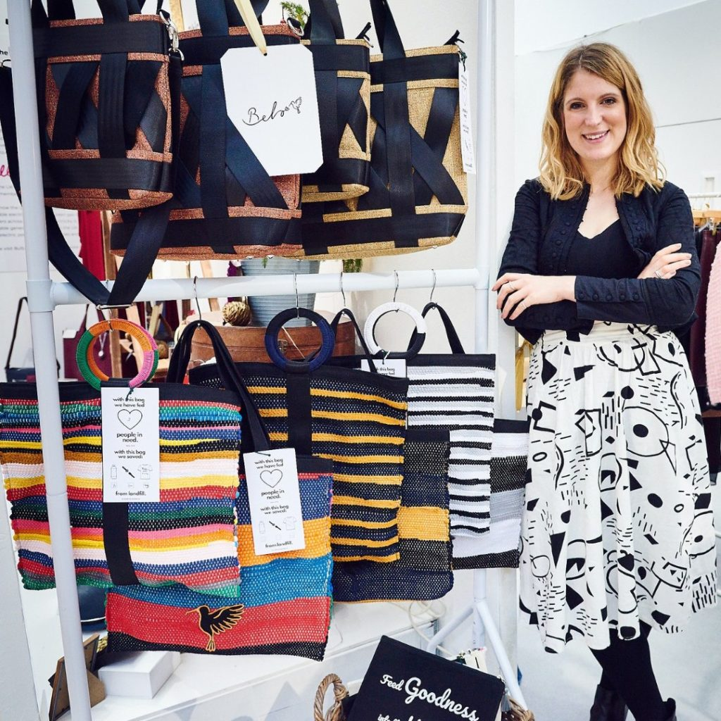 Charlotte Bingham-Wallis | Founder of From Belo | Ethical Handbag Brand | Upcycled Tote and Handbags