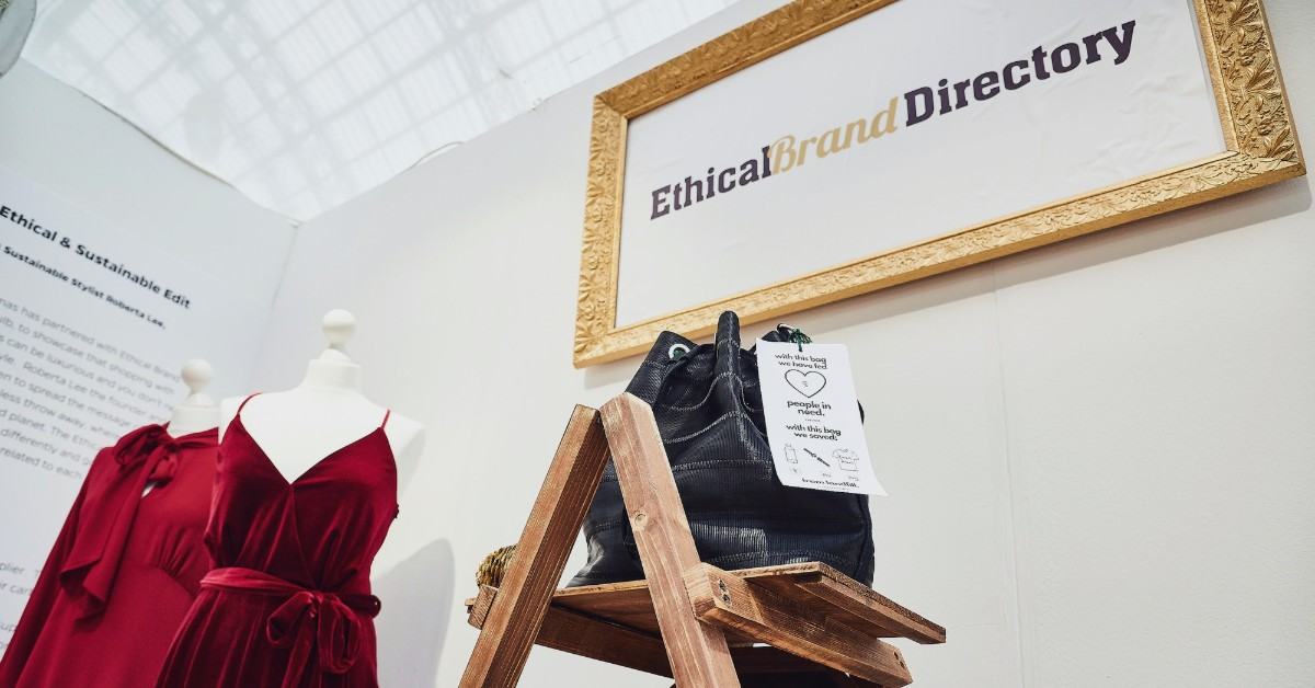 Ethical Brand Directory Boutique Pop Up at Spirit of Christmas London Event | Ethical Fashion Brands | Red Velvet Jumpsuit