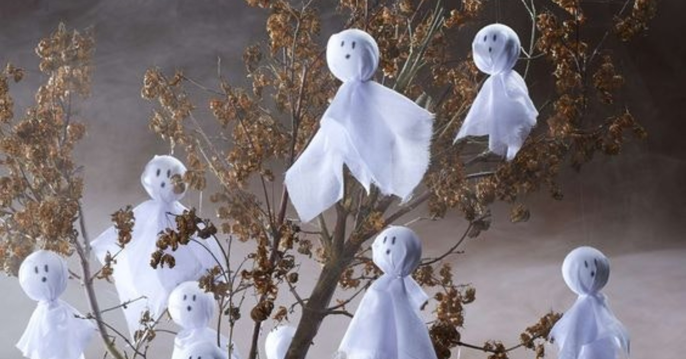 A sustainable Halloween - diy ghost image