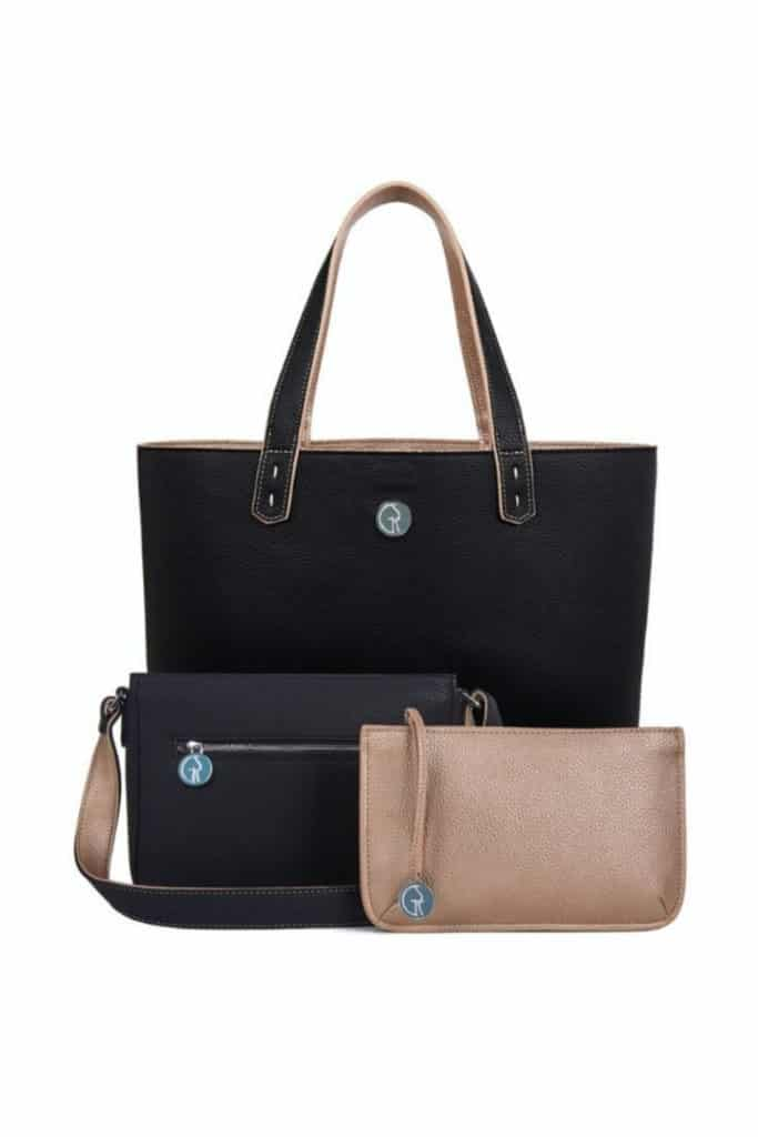 Morph Bag by GSK in onyx and rose gold