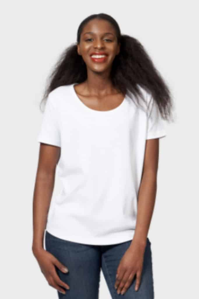The White T-Shirt Co, scoop neck white t-shirt.