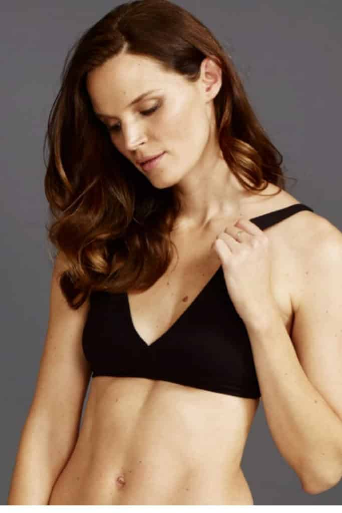 Y.O.U Underwear, organic cotton bralette in black