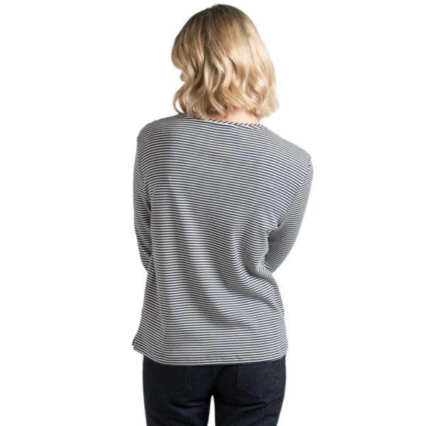 The White T-Shirt Co Breton Stripe T-Shirt Back