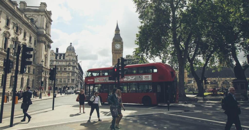 Ethical Brand Directory Blog   Top 10 Tips for Going Green   Busy street in London