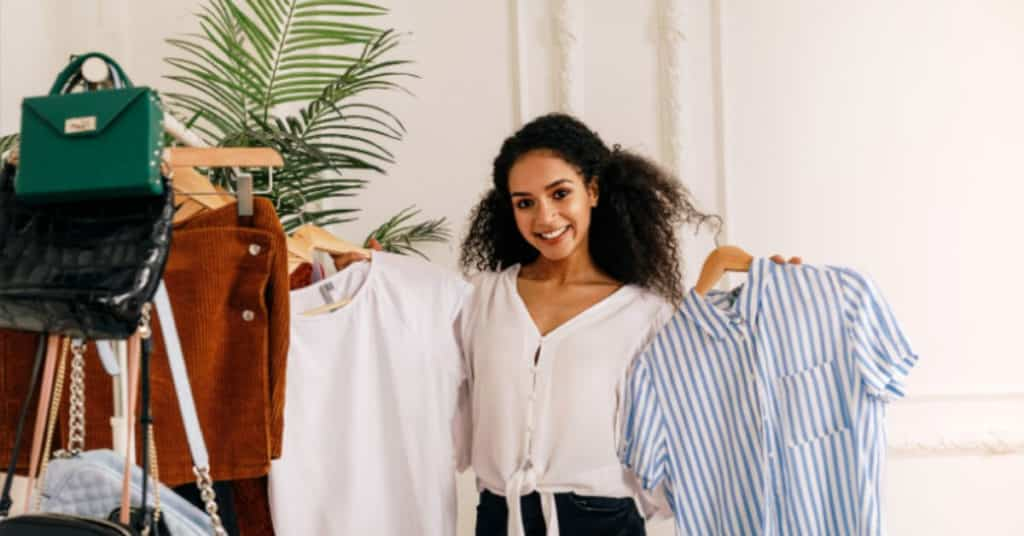 Ethical Brand Directory Blog | Conscious Shopping: How Small Changes Can Make a Big Difference | Woman clothes shopping