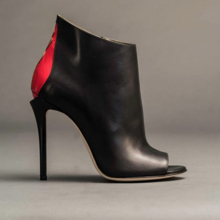 Anthony Stoker Luxury Footwear | Womens Black Red Boot Heel | Ethical Brand Directory