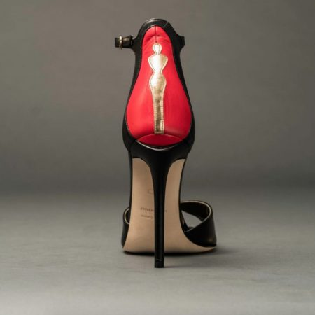 Anthony Stoker | Womens Serenity Red Black Heel | Ethical Brand Directory