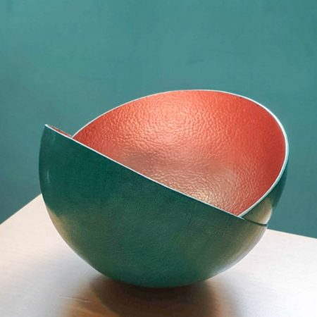 Artisan and Fox | Malian Handcrafted Copper Bowl Turquoise | Ethical Brand Directory