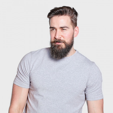 The White T-Shirt Co | Grey Organic Cotton Mens T-Shirt | Ethical Brand Directory