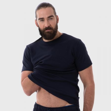 The White T-Shirt Co | Black Organic Cotton Mens T-Shirt | Ethical Brand Directory