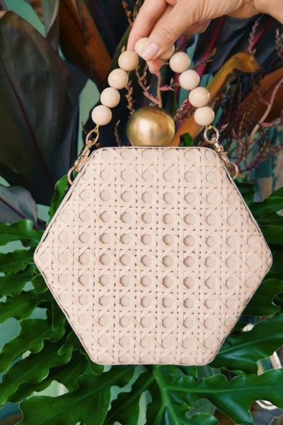 Ethical Brand Directory | Feature Image Pinterest | Soli and Sun | Joanna Woven Bead Handle Clutch Handbag