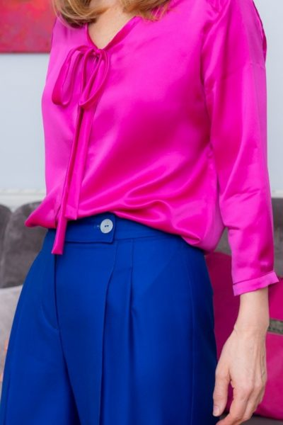 Ethical Brand Directory | Distinctively Me | Pink Shirt Blue Trousers Made to order