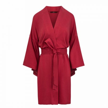 Agatinia Red Ethical Dressing Gown Robe | Ethical Brand Directory