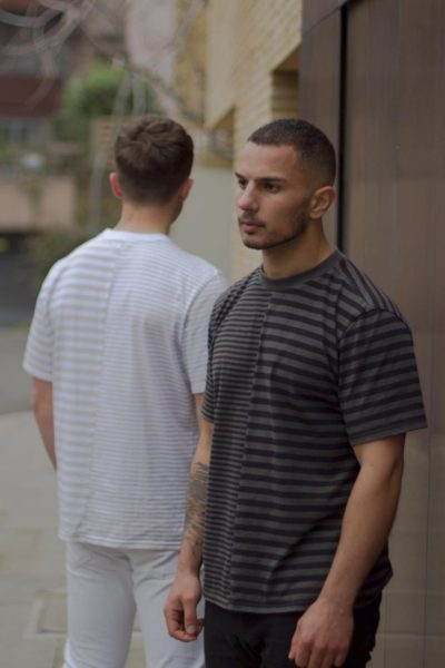 Oisin - Menswear - Striped Grey T-shirts