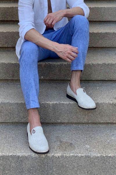 Noah Vegan Footwear | Mens Organic White Vegan Flats | Ethical Brand Directory