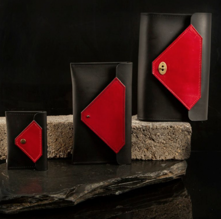 Tatum Diamond London | Handcrafted Environmentally Responsible Tanned Leather Clutch Bag Wallet | Ethical Brand Directory
